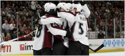 Colorado Avalanche Roster Report 2008-11-27